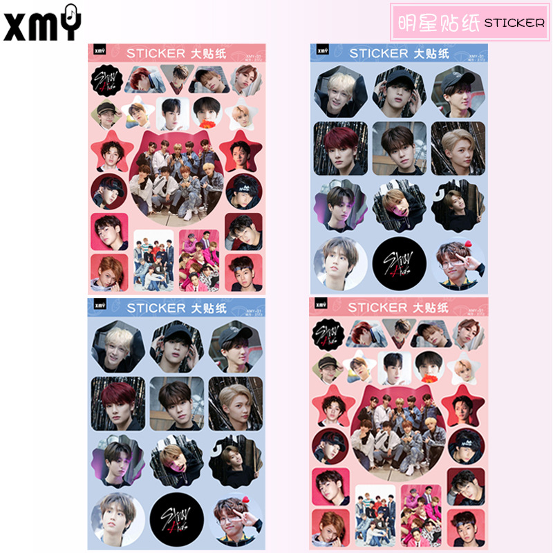 4pcs/set New Arrival KPOP STRAY KIDS Sticker High Quality Creative Cute Waterproof Album Stray Kids Beautiful Face Sticker Kpop