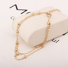 2019 New Fashion Footwear Jewelry Punk Style Gold / Silver Two-color Chain Ankle Bracelet Free Shipping Bracelet Leg Jewelry цена 2017