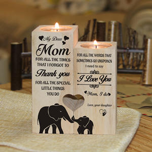 Candle-Holders Gifts Daughter Love Mom To with Message My You-Pair