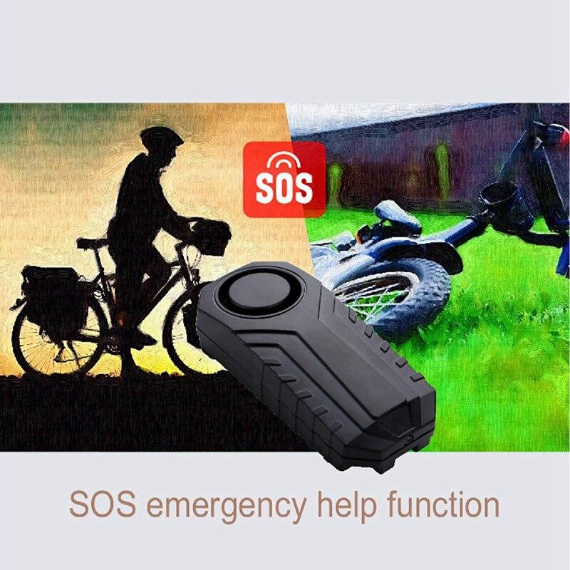 113dB Беспроводная сигнализация для велосипеда с дистанционным IP55 водонепроницаемые регулируемые противоугонные датчики безопасности вибр...