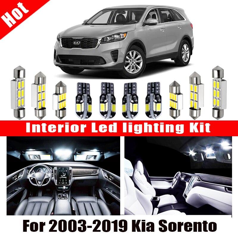 White Car Accessories Canbus Error Free LED Interior Light For 2003-2019 Kia Sorento  Reading Light Kit Map Dome License Lamp