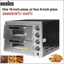 XEOLEO Электрическая Печь Для Выпечки Пиццы Машина Для Выпечки Пиццы Коммерческая двухслойная печь для выпечки~ 350 градусов 16 дюймов 3000 Вт