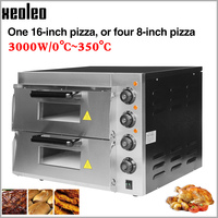 XEOLEO Electric Baking oven Pizza oven machine Pizza Baking machine Commercial Double layer Bakery oven ~350 degree 16inch 3000W