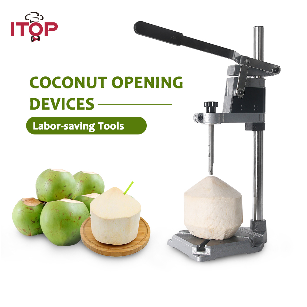ITOP Green Coconut Opener Machine Stainless Steel Fruit fresh coconut shell Driller Opener Coco Drilling Tool|Food Processors| |  - title=
