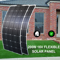 200w flexible solar panel 100watt home roof mono cell 12v solar panel