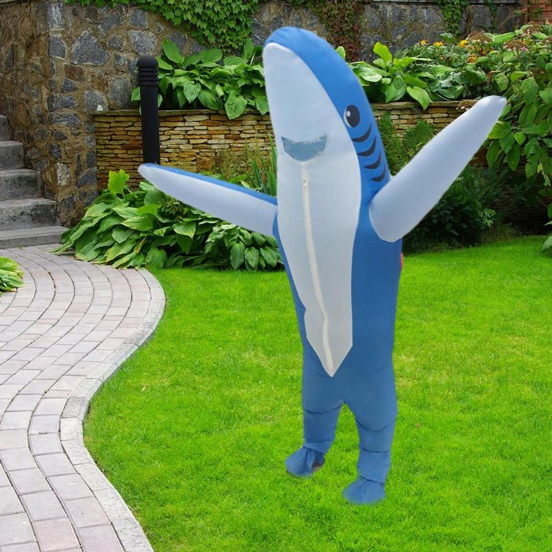 Funny Adult Halloween Performance Outfits Inflatable Garment Cosplay Costume Suit Shark Type Party Playing Clothes