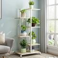 Модные напольные цветочные стеллажи  домашняя Балконная полка для гостиной  деревянная подставка для цветочных горшков  домашняя подставк...