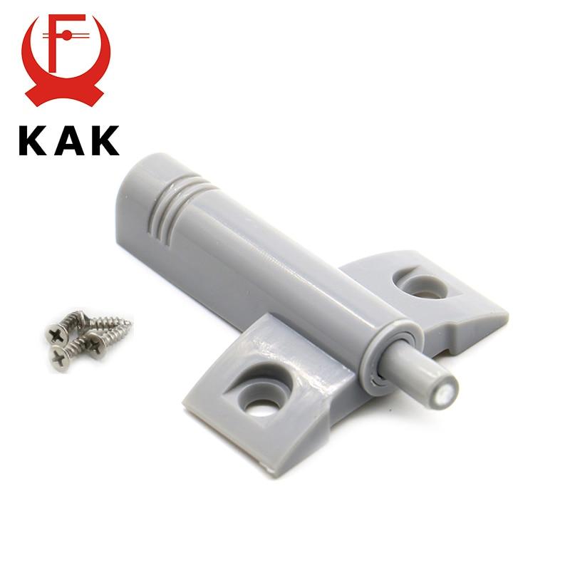KAK High Quality 10Set/Lot Gray White Kitchen Cabinet Door Stop Drawer Soft Quiet Close Closer Damper Buffers With Screws