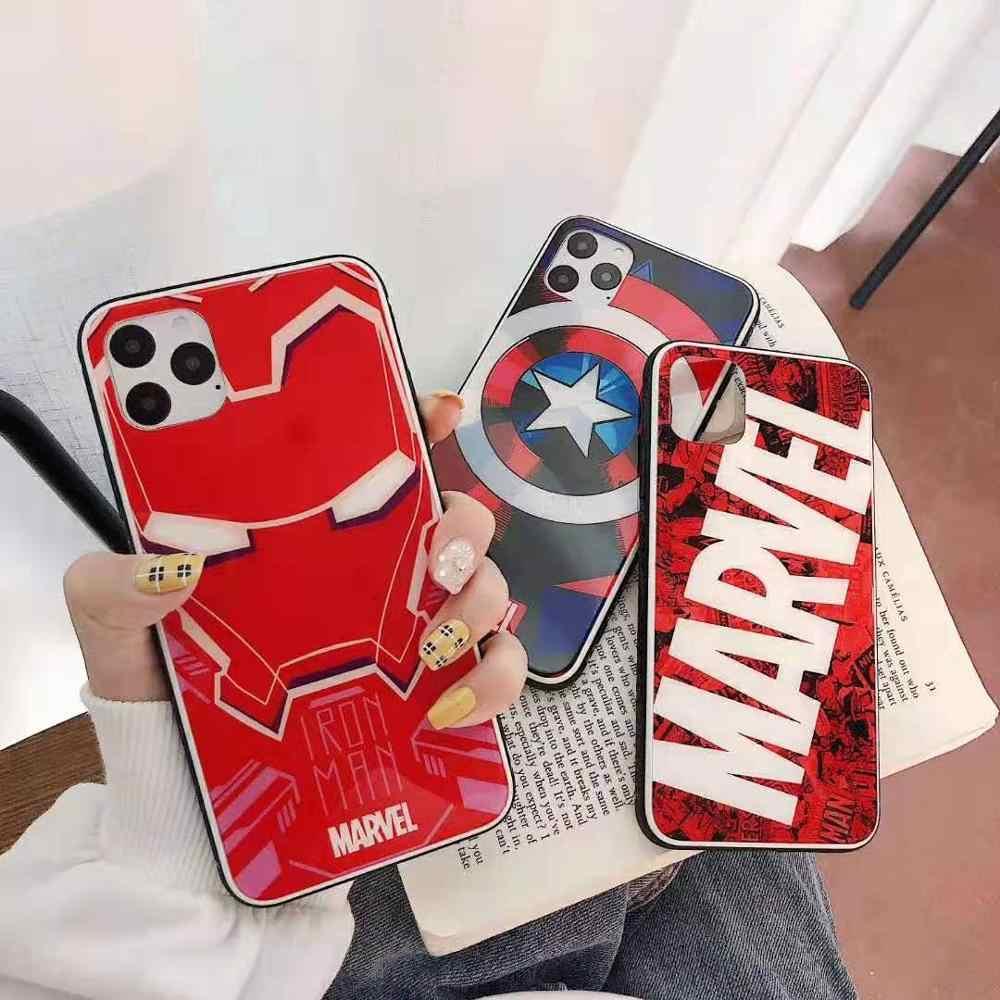 Bien marvel teléfono carcasa para iphone 6 6s 7 8 plus x XS x XR XS MAX caja del teléfono para iphone 11 PRO MAX fundas coque