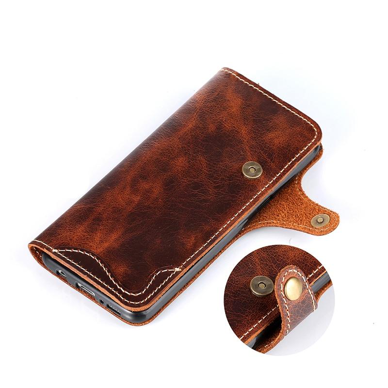 Retro vintage äkta kuskläder plånbokväska Flip Cover med pengar - Reservdelar och tillbehör för mobiltelefoner - Foto 4