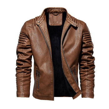 Mens Faux Leather Jackets High Quality Classic Motorcycle Jacket Male Plus faux leather jacket men Autumn