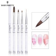BORN PRETTY Кисть для ногтей лайнер для рисования градиентный Рисунок кисти для ногтей для детализации смешивание стриплинг