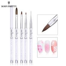 Pincel de uñas BORN PRETTY Liner pintura gradiente dibujo pinceles de uñas para detalle de combinación de rayas