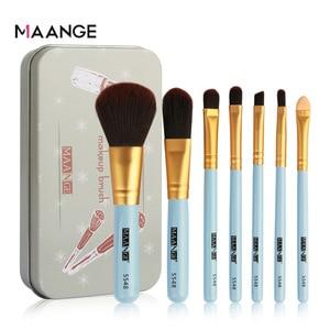 Image 3 - Maange 7ชิ้นกล่องเหล็กแปรงแต่งหน้าแบบพกพาEye Shadowแปรงแต่งหน้าBlush Cosmetictแต่งหน้าสำหรับFace