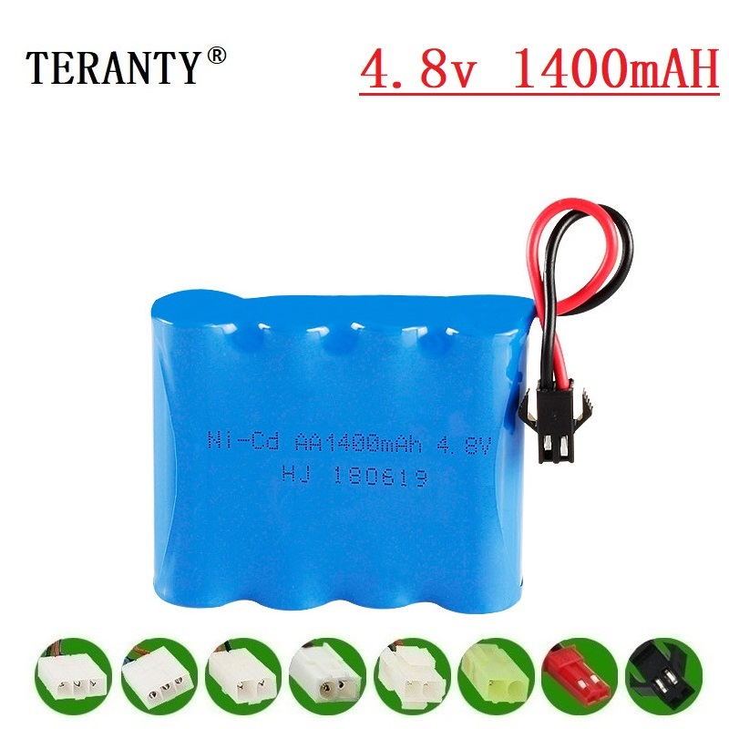 ( M Model ) 4.8v 1400mah NICD Battery For Rc Toys Cars Tanks Robots Boats Guns 4.8v Rechargeable Battery 4*AA Battery Pack 1Pcs