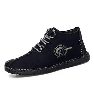Image 3 - 38 47 נעליים יומיומיות גברים מותג נוח 2019 אופנה נעלי גברים עור #6016