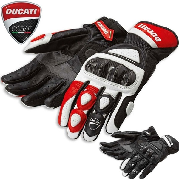 Ducati Summer Winter Full Finger Ducati Motorcycle Gloves Gants Moto Luvas Motocross Leather Motorbike Guantes Moto Racing Glove