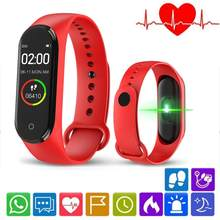 New M4 Smart Bracelet with IPS Color Screen Waterproof Activity Watch Heart Rate Sleep Monitor Calorie Counter for Men Women Kid(China)