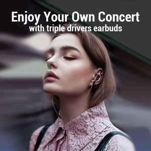 Image 4 - Super Bass 6 Drivers HD Earphones Wired Headphones Sport Stereo Earphone for Honor 9x Phone Headset fone de ouvido for Oneplus 7