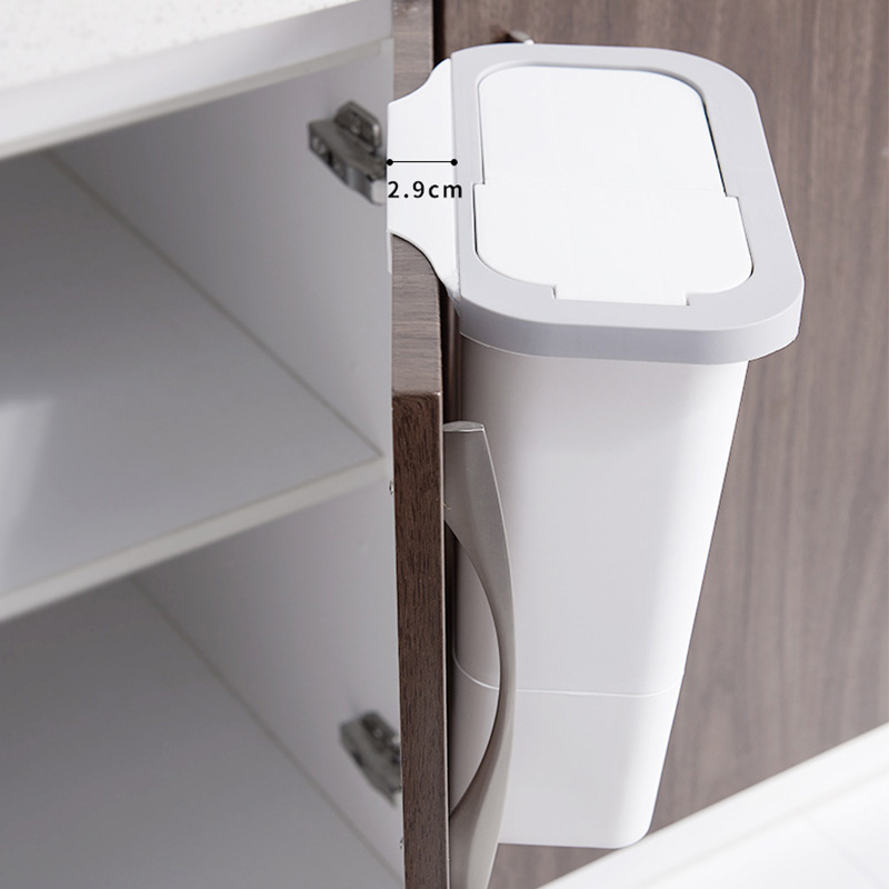 Trash Can With Lid Kitchen Cabinet Door