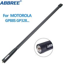 ABBREE MX Cổng Kết Nối Băng Tần Kép 144/430Mhz Có Thể Gập Lại Chiến Thuật Ăng Ten Cho Motorola GP340 GP88S GP3688 GP328 HT750 Máy Bộ đàm