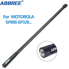 ABBREE MX Connector Dual Band 144/430Mhz Foldable Tactical Antenna For Motorola GP340 GP88S GP3688 GP328 HT750 Walkie Talkie