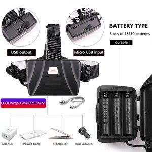Image 5 - Più brillanti XHP70 LED più potente Fari Pesante nebbia nevoso luce del lavoro XHP70.2 fari torcia ZOOM utilizzare 3x18650 Batteria