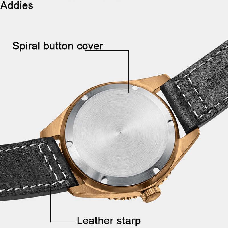 Steeldive NH35A運動男性ヴィンテージブロンズの時計自動ダイビング時計200メートルブロンズベゼル腕時計relojes hombre