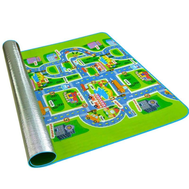 Детский коврик для ползания, нескользящий детский коврик с поверхностью, игровой коврик, толщиной 0,3 см, городской коврик для обучения дорож...