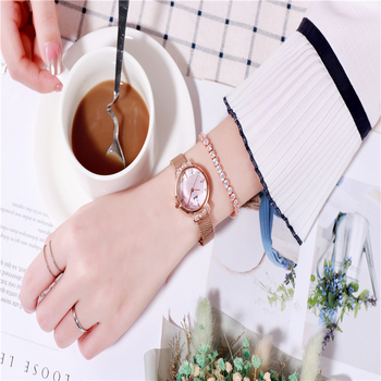 Luxury Ladies watch women brand quartz wristwatches stainless steel watches rose gold woman wrist watch gifts sale Accessories womage origin luxury brand unisex watches rose gold case watch wrist relogios quartz women dress wristwatches day date clock