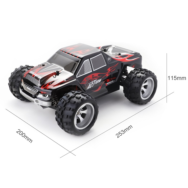 Радиоуправляемый автомобиль WLtoys A979 1/18 4WD гоночный автомобиль с дистанционным управлением Внедорожный гоночный автомобиль 2,4 ГГц пульт дистанционного управления на радиоуправлении светодиодный высокоскоростной грузовик багги - 2