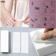100Pcs/Set Honey Wax Depilation Thick Non-woven Strip Hair Removal Paper Wax Strips Paper for Body Facial Hair Removal Stop Hair