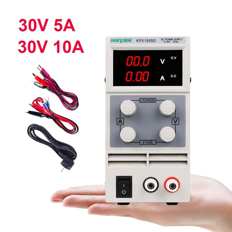 DC Lab Power Supply Adjustable Laboratory 30V 10A Switching Bench Source Digital Voltage Stabilizer Current Regulator