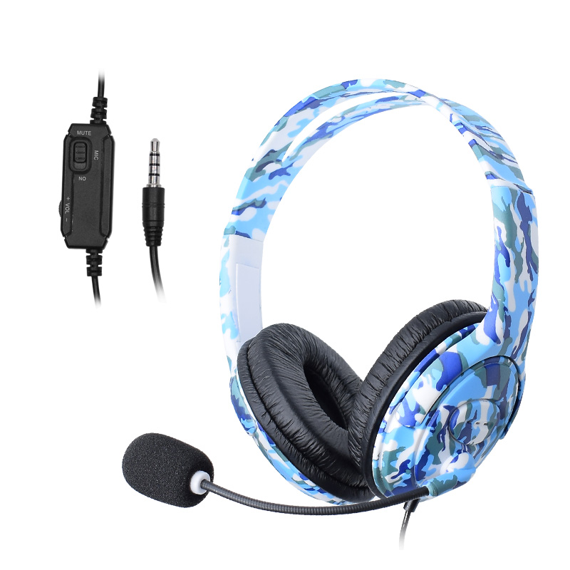 For PS4 Wired Gaming Headset headphones Earphones with microphone for PlayStation 4 PS4 X-ONE PC Phone and Laptop 2