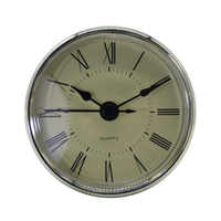 New Classic Clock Crafts Quartz Movement Round 2.76 Inch (70 mm) Fit-up/Insert with Roman Numeral Decorations