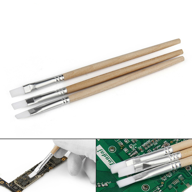 130mm Wood Handle Soft Nylon Cleaning Brush Computer Keyboard PC Dust Cleaner Paint Brush for Mobile Phone PCB Repair Tools Set