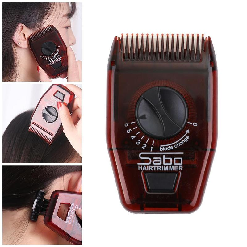 1pcs Professional Manual Hair Trimmer Multifunctional Hair Clipper Mini Adjustable Hair Hairdressing Hair Comb Corner Trimmer