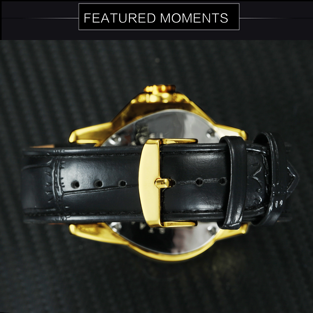 Image 5 - WINNER Official Sports Automatic Mechanical Men Watch Racing Triangle Skeleton Wristwatch Top Brand Luxury Golden + Gift Boxbox brandwatch brandwatch designer brands -