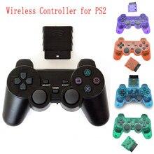 Novo para sony ps2 controlador sem fio bluetooth gamepad para playstation2 joystick console para dualshock2 gamepad transparente