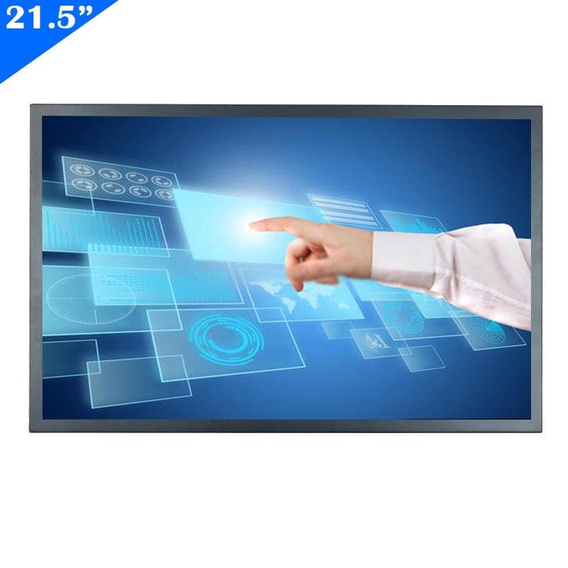 ZHIXIANDA 21,5 zoll FHD 1920x1080 industrielle bildschirm unterstützung HDi VGA USB eingang open frame Resistiven touch-monitor mit lautsprecher