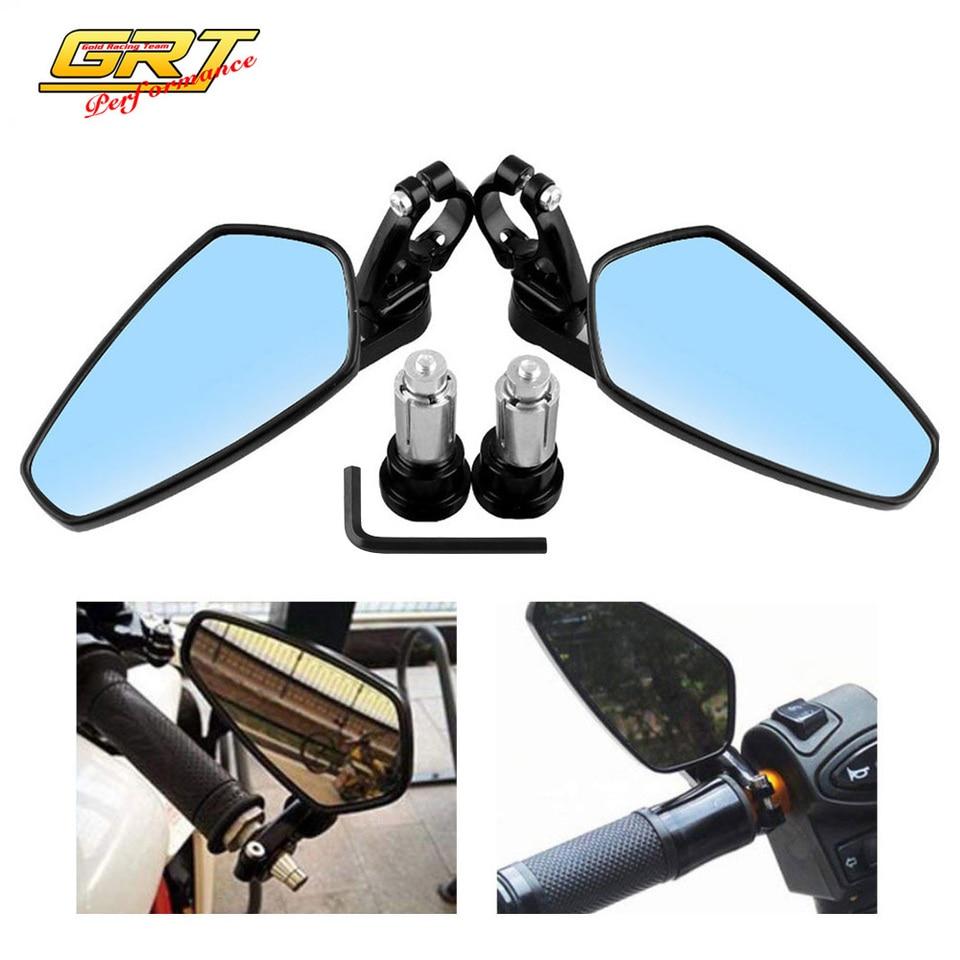 aspecto de carbono F1/Ultimate Conjunto de espejos universales para motocicleta 2/roscas M10/hacia la derecha y 1/rosca M10/hacia la izquierda