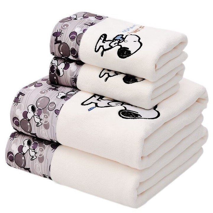 [Towel] [Bath Towel] [Set] Soft Thick Men And Women Adult Cartoon Large Bath Towel Than Cotton Water-Absorbing