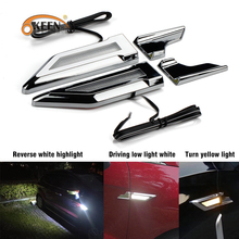 2PCS Universal LED Light Side Marker Lamps Turn Signal DRL Reverse Parking Car Auto Fender for BMW  VW Ford