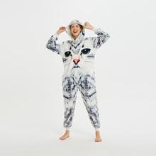 3D Cat Unisex Adult One-Piece Pajamas Cosplay Cartoon Animal Onesies Sleepwear Pyjamas Christmas Halloween Thanksgiving Costume pink unicorn cartoon animal onesies pajamas costume cosplay pyjamas adult onesies party dress halloween pijamas