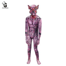 Horror Costume Stranger Things Demogorgon Mask Cospaly Costume for Kid Headgear Chomper Halloween Costume Prop Scary Flower Mask(China)