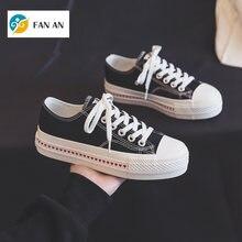 2021 Zapatillas de deporte con plataforma para mujer zapatos de lona a la moda informale con corazon de alta calidad