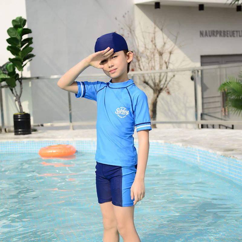 Children BOY'S Swimsuit Split Type Cute Child Boy Baby Cartoon BOY'S Middle And Large Young STUDENT'S Beach Hot Springs Swimwear