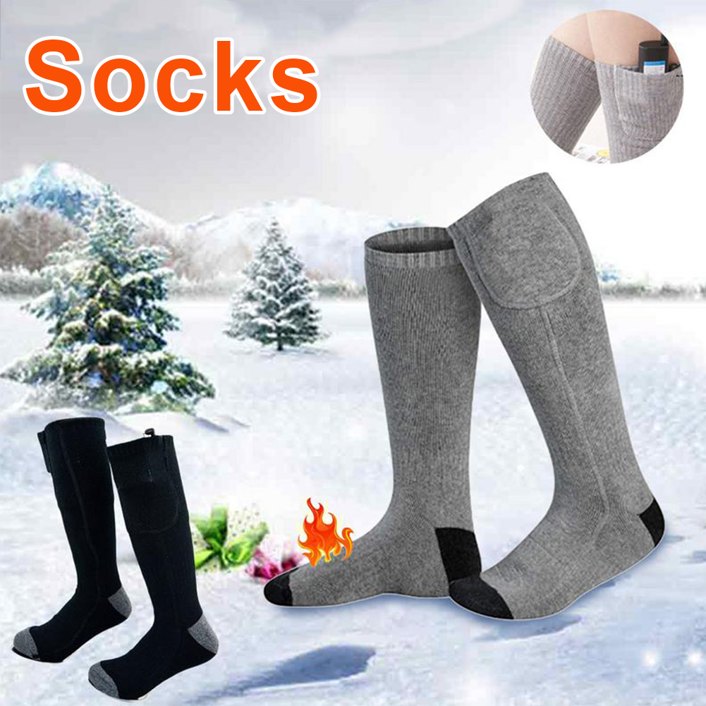 5V Adjustable Warmer Socks Electric Heated Socks Rechargeable Battery For Women Men Winter Outdoor Skiing Cycling Sport Heater