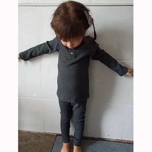 Image 3 - HITOMAGIC 2019 הגעה חדשה בני בנות בגדים לילדים מצולעים סט מצויד עם מלא שרוול ילדים רך סתיו חורף בד