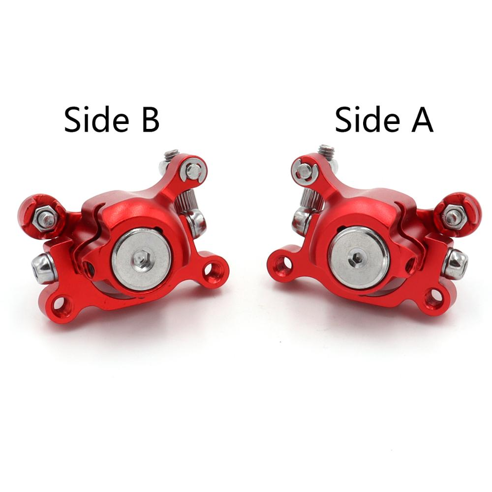 Красный передний/Задний дисковый тормозной суппорт для 2-тактного 33 куб. См 43 куб. См 49 куб. См миниатюрный мотоцикл Детский Карманный велоси...